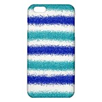 Metallic Blue Glitter Stripes iPhone 6 Plus/6S Plus TPU Case Front