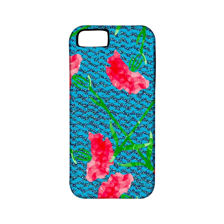 Carnations Apple iPhone 5 Classic Hardshell Case (PC+Silicone)