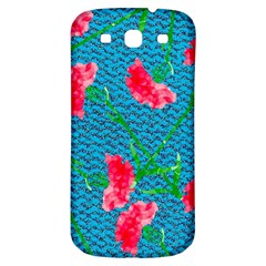 Carnations Samsung Galaxy S3 S III Classic Hardshell Back Case