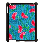 Carnations Apple iPad 3/4 Case (Black) Front