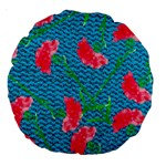Carnations Large 18  Premium Round Cushions Front