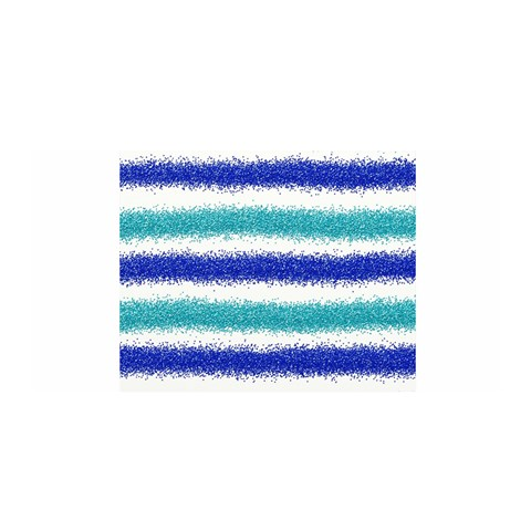 Metallic Blue Glitter Stripes Satin Wrap