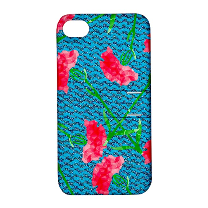 Carnations Apple iPhone 4/4S Hardshell Case with Stand