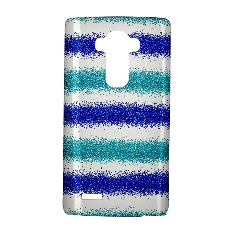 Metallic Blue Glitter Stripes LG G4 Hardshell Case