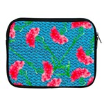 Carnations Apple iPad 2/3/4 Zipper Cases Front