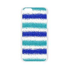 Metallic Blue Glitter Stripes Apple Seamless iPhone 6/6S Case (Transparent)