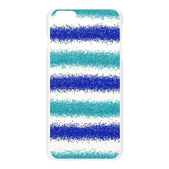 Metallic Blue Glitter Stripes Apple Seamless iPhone 6 Plus/6S Plus Case (Transparent)