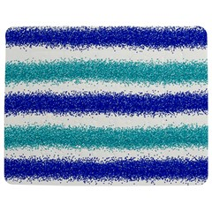 Metallic Blue Glitter Stripes Jigsaw Puzzle Photo Stand (Rectangular)