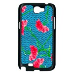 Carnations Samsung Galaxy Note 2 Case (Black) Front