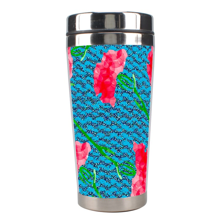 Carnations Stainless Steel Travel Tumblers
