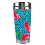 Carnations Stainless Steel Travel Tumblers Right
