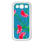 Carnations Samsung Galaxy S3 Back Case (White) Front