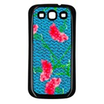 Carnations Samsung Galaxy S3 Back Case (Black) Front