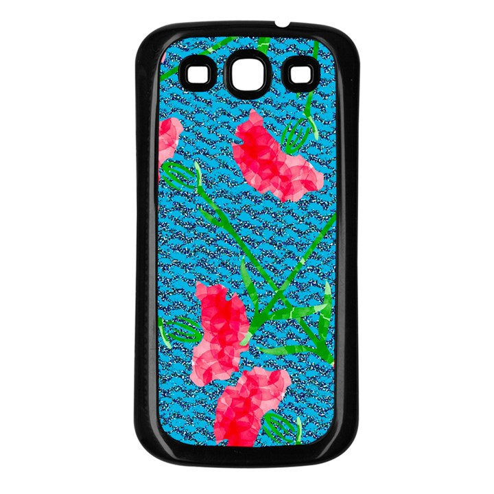 Carnations Samsung Galaxy S3 Back Case (Black)