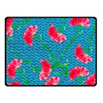Carnations Double Sided Fleece Blanket (Small)  50 x40 Blanket Front