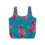 Carnations Full Print Recycle Bags (S)  Back