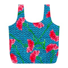Carnations Full Print Recycle Bags (L)
