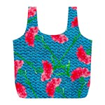 Carnations Full Print Recycle Bags (L)  Front