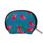 Carnations Accessory Pouches (Small)  Back