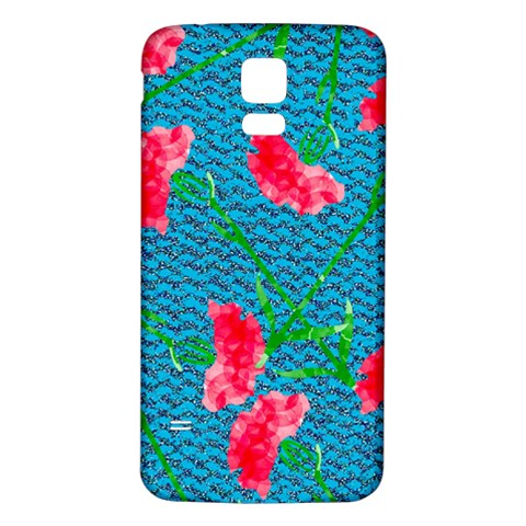 Carnations Samsung Galaxy S5 Back Case (White)