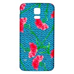 Carnations Samsung Galaxy S5 Back Case (White) Front