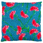 Carnations Standard Flano Cushion Case (Two Sides) Back