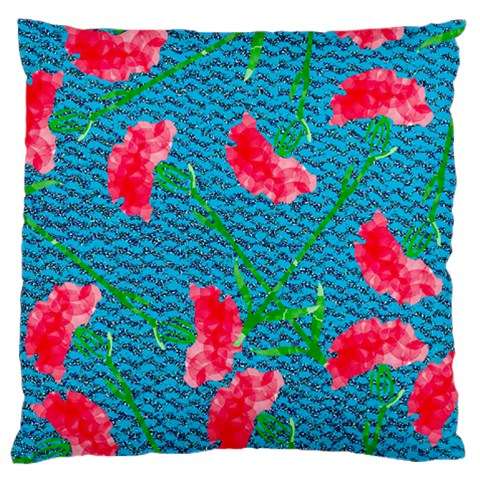 Carnations Large Flano Cushion Case (Two Sides)
