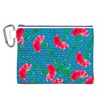Carnations Canvas Cosmetic Bag (L) Front