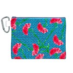 Carnations Canvas Cosmetic Bag (XL) Front