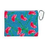 Carnations Canvas Cosmetic Bag (XL) Back