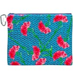 Carnations Canvas Cosmetic Bag (XXXL) Front