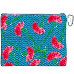 Carnations Canvas Cosmetic Bag (XXXL) Back
