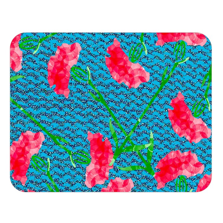 Carnations Double Sided Flano Blanket (Large)