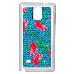 Carnations Samsung Galaxy Note 4 Case (White)