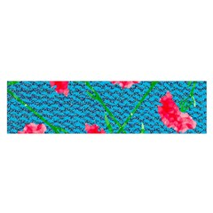 Carnations Satin Scarf (Oblong)