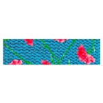 Carnations Satin Scarf (Oblong) Front