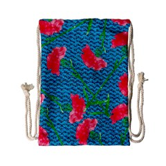 Carnations Drawstring Bag (small)