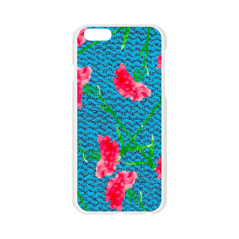 Carnations Apple Seamless iPhone 6/6S Case (Transparent)