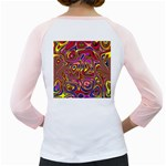 Abstract Shimmering Multicolor Swirly Girly Raglans Back