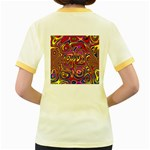 Abstract Shimmering Multicolor Swirly Women s Fitted Ringer T-Shirts Back