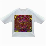 Abstract Shimmering Multicolor Swirly Infant/Toddler T-Shirts Front