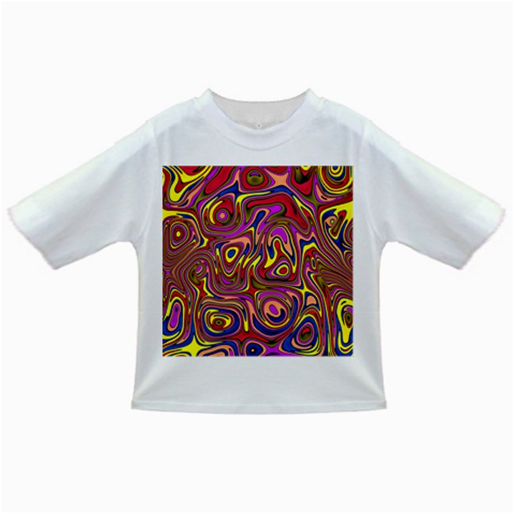 Abstract Shimmering Multicolor Swirly Infant/Toddler T-Shirts