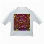 Abstract Shimmering Multicolor Swirly Infant/Toddler T-Shirts Back