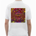 Abstract Shimmering Multicolor Swirly Golf Shirts Back