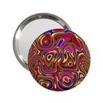 Abstract Shimmering Multicolor Swirly 2.25  Handbag Mirrors Front