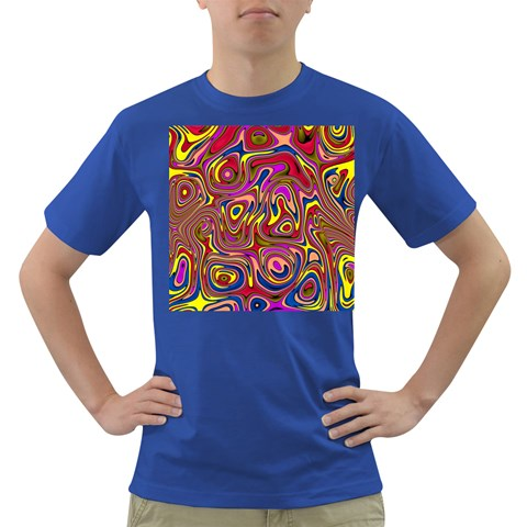 Abstract Shimmering Multicolor Swirly Dark T-Shirt