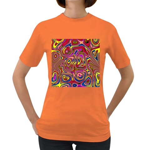 Abstract Shimmering Multicolor Swirly Women s Dark T-Shirt