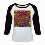 Abstract Shimmering Multicolor Swirly Kids Baseball Jerseys Front