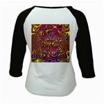 Abstract Shimmering Multicolor Swirly Kids Baseball Jerseys Back