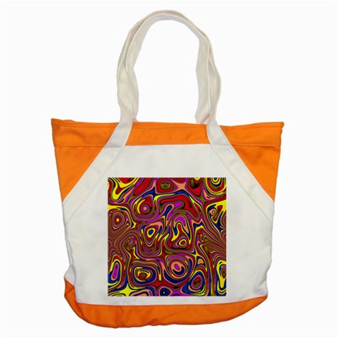 Abstract Shimmering Multicolor Swirly Accent Tote Bag